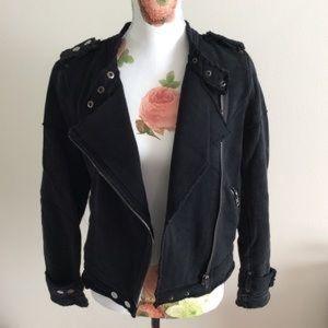 NWOT Knit Moto Jacket Size Small